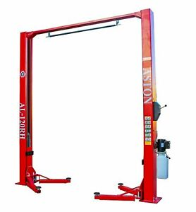 12 000 Lbs 2 Post Lift Single Point Lock Release Two Post Auto Car Lift