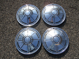 Genuine 1973 To 1976 Plymouth Duster Valiant 14 Inch Metal Hubcaps Wheel Covers