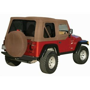 99517 Rt10337t Rt Off road New Soft Top Tan For Jeep Wrangler 1997 2006