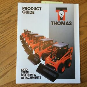 Thomas T 83 103 133 173 203 233 Skid Steer Loaders Attachments Sales Brochure
