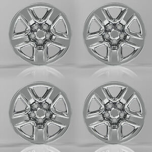 4 Pcs 5 Spoke 17 Wheel Chrome Skin Hub Cap Covers For 2006 2012 Toyota Rav4