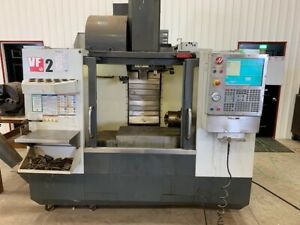 Used Haas Vf 2 Cnc Vertical Mill 2011 4th Axis 24 Tools Smtc Prog Coolant Auger