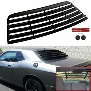 For 08 21 Dodge Challenger Rear Window Scoop Louver Sun Shade Cover Abs