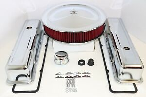 Sbc Chrome Engine Dress Up Kit Tall Valve Covers Washable Air Cleaner 58 79 350