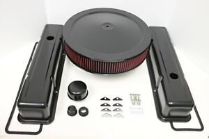 Sbc Black Engine Dress Up Kit Tall Valve Covers Washable Air Cleaner 58 79 350