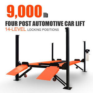9000lb 4 Post Car Lift Storage Parking Service 1 7hp 2 2kw Max Lifting 71in