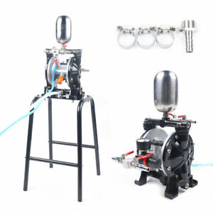 New Pro Pneumatic Double Diaphragm Pump Pumping Paint With Filter Suction Cup