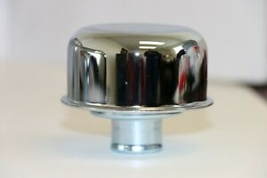 Chrome Round Valve Cover Breather Push In Style Sbc Bbc Sbf 327 350 302 454 502