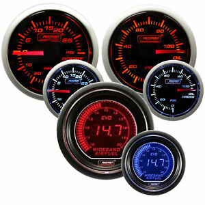 Prosport 52mm Performance Boost Oil Pressure Wideband Gauge Amber White
