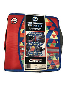 Case It The Mighty Zip Tab 2 0 Binder D 159 p 3 Rings 3 Inch Capacity New