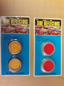 4 Vintage Hollywood Accessories Auto Side Reflectors 2 Amber 2 Red Set