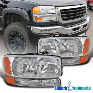 For 1999 2006 Gmc Sierra 2000 2006 Yukon 00 06 Yukon Xl Headlights Signal Lights