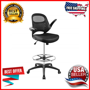 Drafting Chair Tall Office Chair Standing Desk Mesh Computer Chair Adjust Height