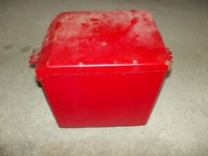 Farmall H Ih Tractor Nice Battery Box W 4 Rubber Lid Bolts Wing Tip Nuts