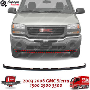 Front Lower Valance Extension Textured For 2003 2006 Gmc Sierra 1500 2500hd 3500