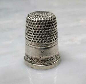Vintage Sterling Silver 8 Thimble 4 5 Grams 3 H1133