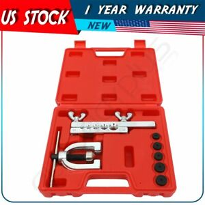 Brake Line Flaring Tool Double Flaring Tool Kit Copper Aluminum Soft Steel Brak