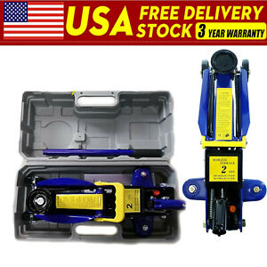 2 Ton Electric Hydraulic Floor Jack 3t Axle Stand Car Van Garage Lift Tuv Ce