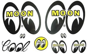 Big Mooneyes Decal Sticker Assort Hot Rat Rod Classic Car Street Drag Racing
