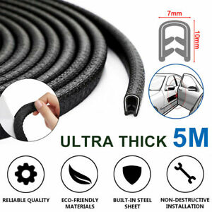 16ft Car Door Edge Trim Moulding Rubber Seal Strip Scratch Protector Guard Decor