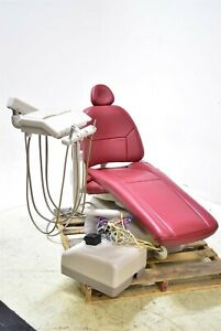 Adec 1040 Dental Exam Chair Operatory Set up Package Caregiving Furniture Red