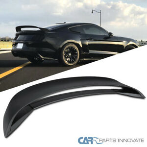 For 15 19 Ford Mustang Gt350r Style Matte Black Rear Trunk Wing Lower Spoiler