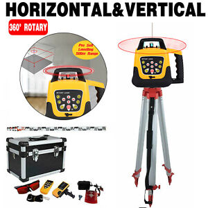 360 Automatic Self leveling Red Beam Rotary Laser Level 500m 1 65m Tripod