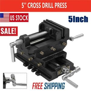 5inch Cross Drill Press X y Clamp Machine Vise Metal Milling Slide 2 Way Hd