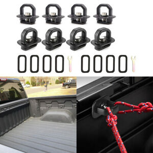 8x Truck Bed Tie Down Anchors Side Wall Hook Ring For Chevy Silverado Gmc Sierra