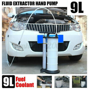 9 L Fluid Extractor Pump Vacuum Oil Changer Hand Operated Oil Change Extractor