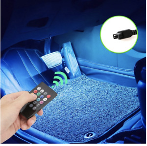 Led Car Foot Ambient Light With Usb Cigarette Lighter Backlight Music Control Ap