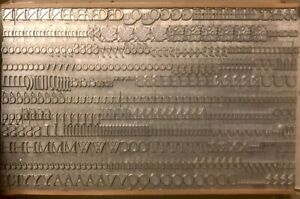 Metal Letterpress 30pt Believed To Be Cloister Lf New In Box