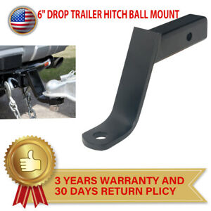 6 inch Drop Class 3 Trailer Hitch Ball Mount Fits 2 inch Receiver 7500 Lbs