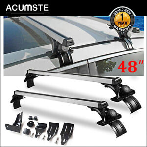 Universal Car Suv Top Roof Cross Bar Luggage Cargo Carrier Rack W 3 Kinds Clamp