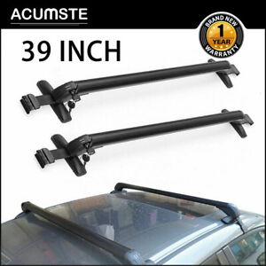 39 Universal Car Top Luggage Roof Rack Cross Bar Adjustable Window Frame Lockx2