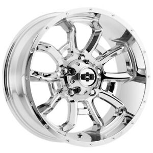 4 Vision 415 Bomb 20x9 5x150 12mm Chrome Wheels Rims 20 Inch