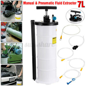 Manual Pneumatic 7 Liter Transfer Oil Fluid Change Vacuum Extractor Pump Tank