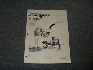 Crary Bear Cat 73413 73420 Honda 73454 Pto Chipper Operator Maintenance Manual