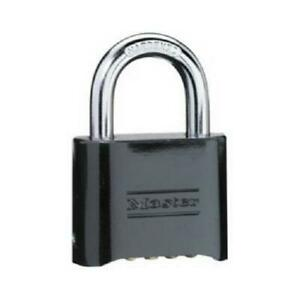 2 in Combination Padlock Black finish Solid brass Case Resettable