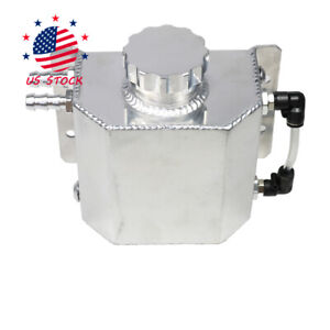 New Universal Overflow Recovery Water Tank Bottle 1l Polished Coolant Radiator