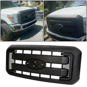 Front Radiator Grill Grille For 2011 2016 F250 F350 F450 F550 Super Duty Black
