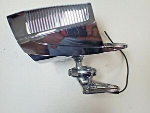 Vintage 1950s Nu Vue Chrome Spotlight Mirror Combo Nice Accessory