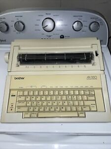 Brother Ax 350 Portable Daisy Wheel Electronic Typewriter Used