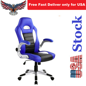 Quality Executive Office desk Computer Gaming Racing Chair Synthetic Leather