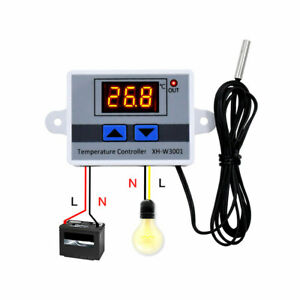 Xh w3001 Digital Led Temperature Controller 10a Thermostat Control Switch Probe