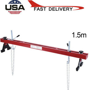 1100lbs Capacity Engine Load Leveler Support Bar Transmission W Dual Hook Us