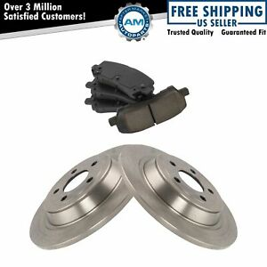 Rear Posi Ceramic Disc Brake Pads Rotor Kit For Ford Mustang New