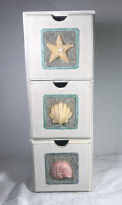14 3 Drawer Apothecary Spice Trinket Cabinet Beach Cottagecore Shabby Chic