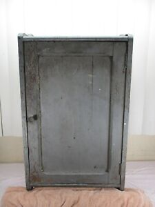 Vintage Primitive Rustic Wall Cabinet Shelves Farmhouse Country Wood Wash Decor