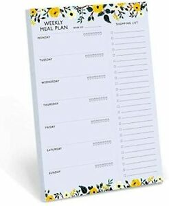 Weekly Magnetic Meal Planner Notepad Food Planning Organizer And Grocery List